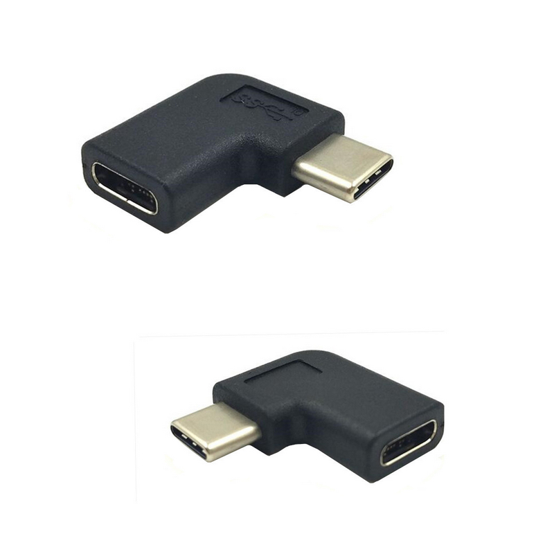USB 3.1 Type C Female to 90 Degree Angle Male Adapter Converter Connector USB-C