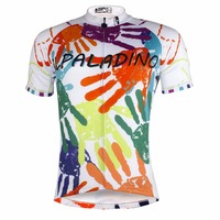 ILPALADINO Cycling Jersey 2018 New Graffiti Style Hand Print Pattern Short sleeved Bike Clothes Bicycle Race Clothes