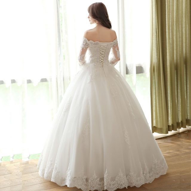 Simple Bridal Gowns with Sleeves