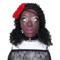 Artificial Fake African Women Human Skin Face Realistic Silicone Face For Crossdresser Transgender Dragqueen Masquerade Boobs