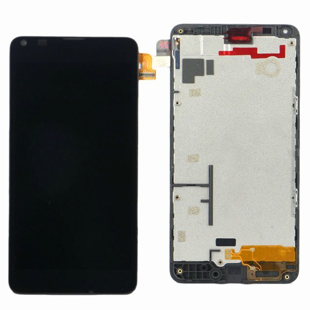 LCD Display Touch Digitizer Screen + Frame Assembly Black Replacement Part For Microsoft Nokia Lumia 640