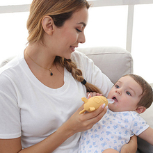 1Pc Neue Baby Infant Silikon Squeeze Fütterung Löffel Marke Neugeborene Kleinkinder Flasche Löffel Feeder Biberones Mamadeira (3 Farben)