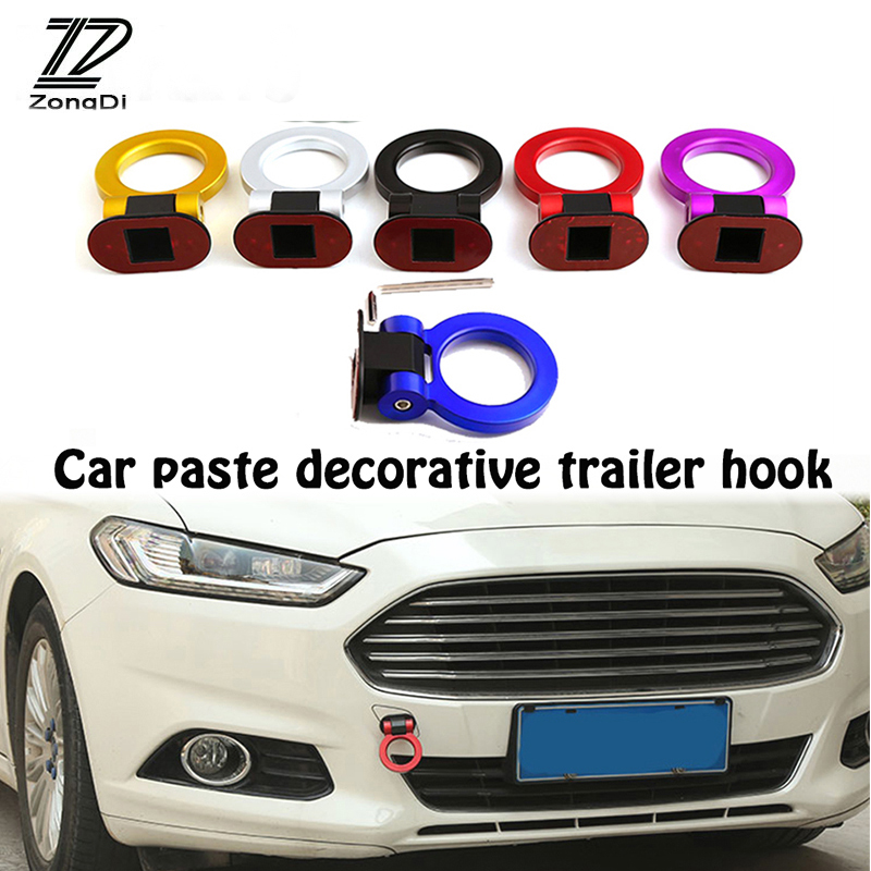 ZD Car Styling O Racing Trailer Hook Decoration Stickers For Ford Focus 2 3 1 Fiesta Mondeo Ranger Kuga Seat Leon Ibiza Lexus yuzhe 2 front seats auto automobiles car seat cover for ford fushion focus fiesta edge explore kuga car accessories styling