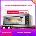 Stainless steel oven Commercial large capacity single layer baking oven Home Electric ovens With timing function 220v/50hz 3200w|large electric oven|oven commercial|commercial oven -