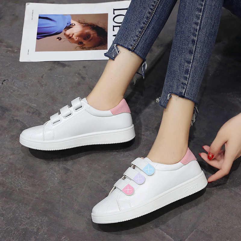 ออกแบบใหม่ Wedges รองเท้าสีขาวหญิงรองเท้าผ้าใบผู้หญิงลำลองหญิงรองเท้าผู้หญิงสีชมพูสี NVX27