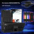 Para a lenovo a 6010 a 6000 voltar casos de telefone pc tpu cubra com kickstand para lenovo a6000/a6000 plus/a6010 case