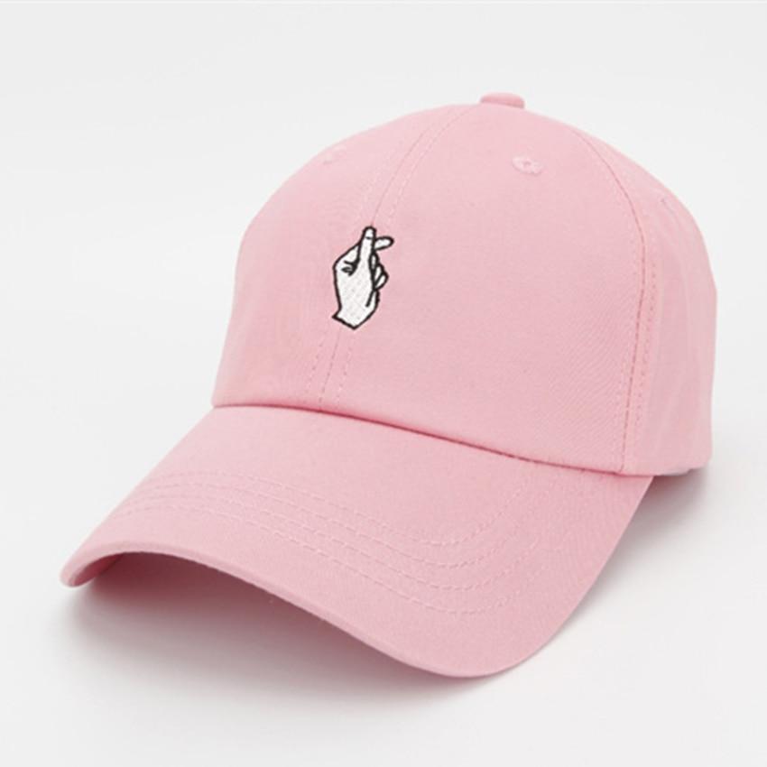 06954a8a88d6d De moda de bordar de gesto de mano Snapback sombreros Unisex gorra de  béisbol de las mujeres y los hombres ajustable Snapback gorras en Gorras de  béisbol de ...