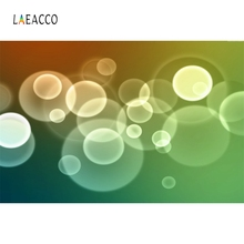 Laeacco Circle Light Bokeh Gradient Baby Portrait Customized Photography Background Photographic Backdrops For Photo Studio