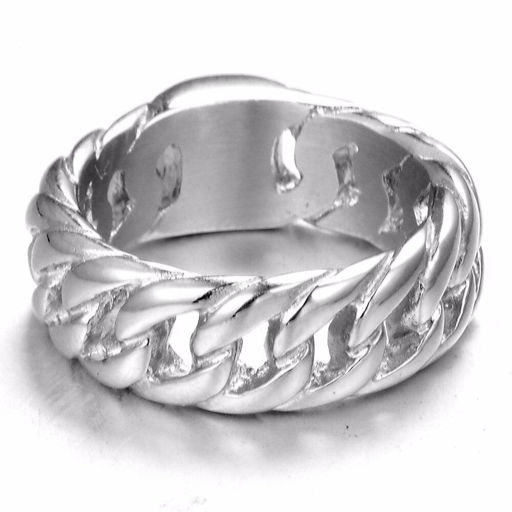Heißer Verkauf Finger Art Retro Titan Edelstahl Buddha Ring Punk Biker  Schmuck Breite Kette Ring Drop 5c2a8759d9