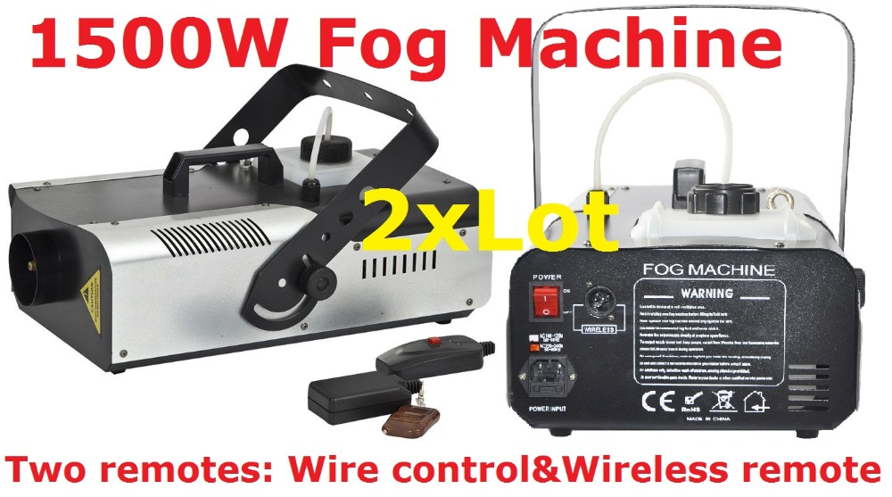 DHL Free Shipping Stage Fog Machine With Remote + Wire control 1500W Smoke Machine Professional DJ Disco Light Effect Equipment  цены