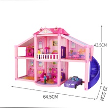 цена Diy Dollhouse Kit Accessories Miniature Doll House Furniture Miniatures Mini Room Doll Car Dog Girl Toys Coffe Table Toddler Toy онлайн в 2017 году