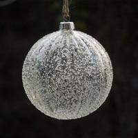 Big Packing Striped Glass Ball Diameter=6cm 8cm 10cm12cm Glass Globe with Glass Chips Christmas Tree Pendant Ornament Glass Ball