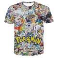 2016 Camisa Dos Homens T Engraçado Pokemon Pikachu Pokemon Vai a Equipe Valor Da Equipe Equipe Místico Instinto Pokeball T-Shirt Manga Curta Quadrinhos Tee