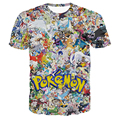 2016 Hombres Camiseta Divertida Pikachu Pokemon Pokemon Ir Equipo Valor del Equipo Equipo de Instinto Místico Pokeball Comics Manga Corta Camiseta Tee