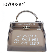 TOYOOSKY Clear Transparent PVC Shoulder Bags Women Candy Color Jelly Bag Purse Solid Color Handbags Large Capacity Crossbody Bag