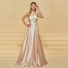 Tanpell pink evening dress printed sweetheart floor length a line gown lady wedding party formal custom long dresses