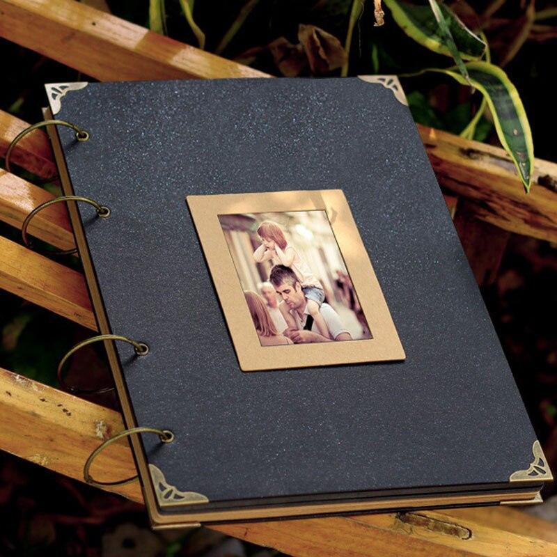 DIY Photo Album Scrapbook Large pages Kraft Scrapbook Wedding Album Wedding Guest Book Baby Growth Family