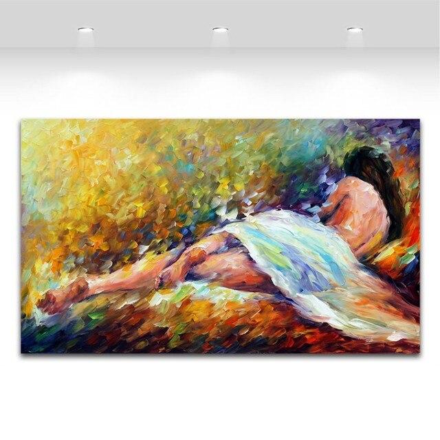 Tienda Online Mujer desnuda en lienzo cama pintura al óleo del ...