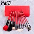 Colorido msq pinceles de maquillaje herramientas, fundación Powder Blush Cepillos Contra Kit, sombra de ojos de la Ceja Maquillaje de Pestañas Lip Brush Set