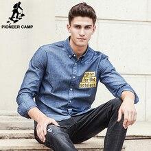 Pioneer camp nova chegada denim camisa dos homens da marca top roupas de qualidade masculino jeans shirt dos homens moda casual camisas sociais 677180(China (Mainland))
