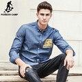 Pioneer camp nueva llegada camisa de mezclilla hombres ropa de la marca de calidad superior masculino jeans camisa moda casual para hombre camisas sociales 677180
