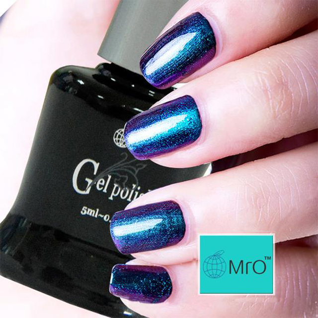 MRO chameleon gel nail polish 5ml UV gel polish different colors permanentes varnish 2 pieces/lot 3 step gel cheap price