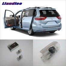 цена на Liandlee Car Door Ghost Shadow Lights For Toyota Sienna 2011~2014 Courtesy Doors Lamp / Brand Logo LED Projector Welcome Light