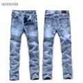 2017 Primavera Nueva Marca Casual Jeans Hombres St Sólido Delgado de la Alta Calidad Caliente de La Venta Más El Tamaño 28-36 Jeans