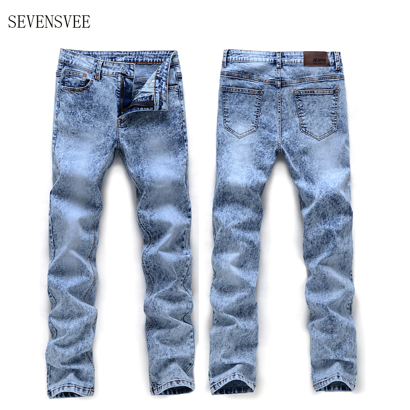2017 Spring New Brand Casual Jeans Men Solid Slim High Quality St Hot Sale Plus Size 28-36 Jeans CHOLYL 2015 new hot sale fashion luxury high quality men s brand jeans trousers classic casual scratch denim jeans plus size 28 46