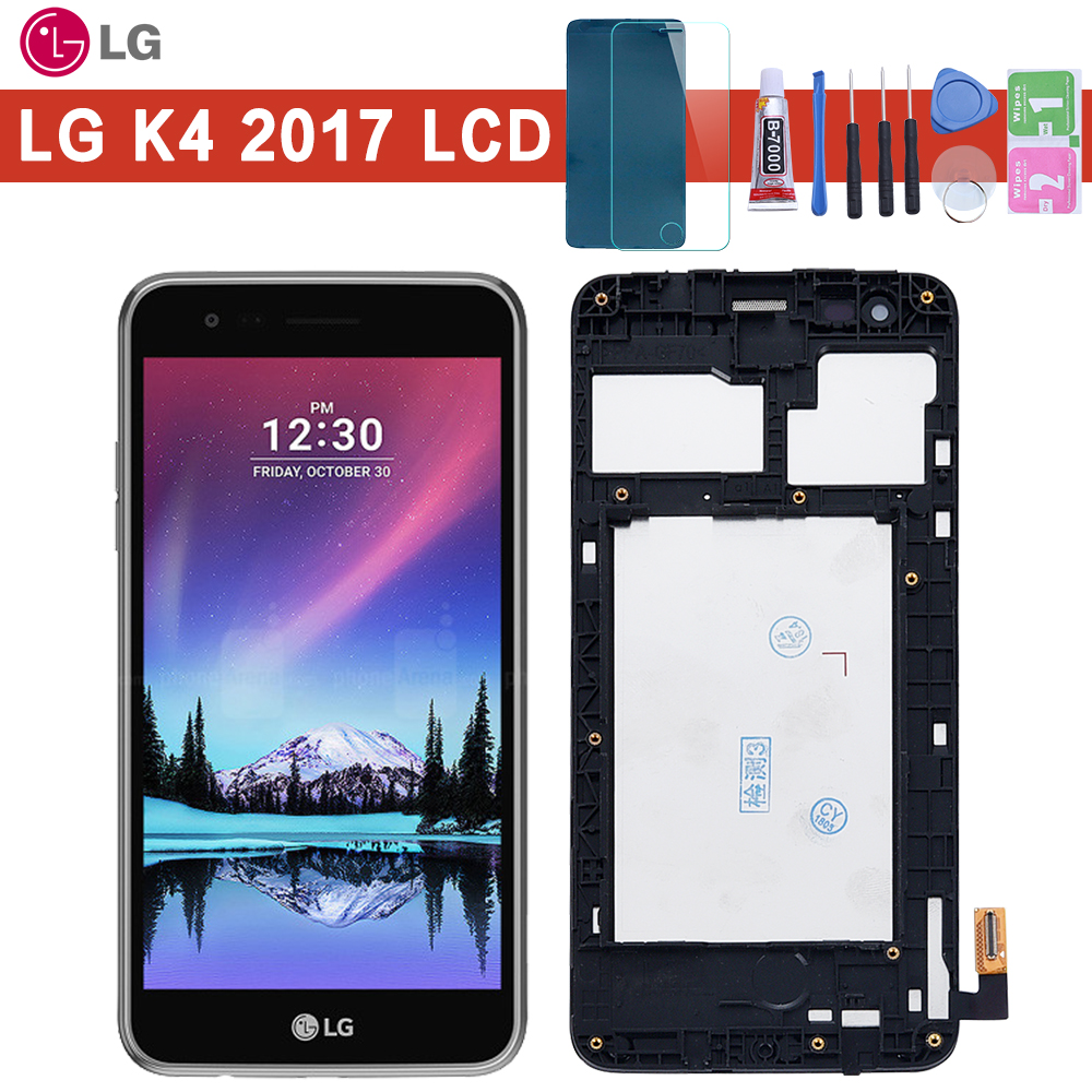Original For <font><b>LG</b></font> K4 2017 <font><b>M160</b></font> <font><b>LCD</b></font> Display Touch Screen Digitizer with Frame Assembly or <font><b>LCD</b></font> No frame for K4 2017 image