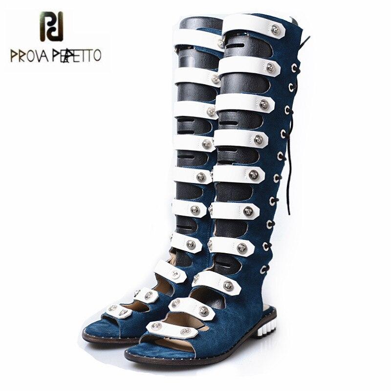 цены на Jady Rose 2018 New Design Gladiator Sandals Women Knee High Summer Boots Straps Flat Sandal Lace Up Sandalias Mujer Casual Flats в интернет-магазинах