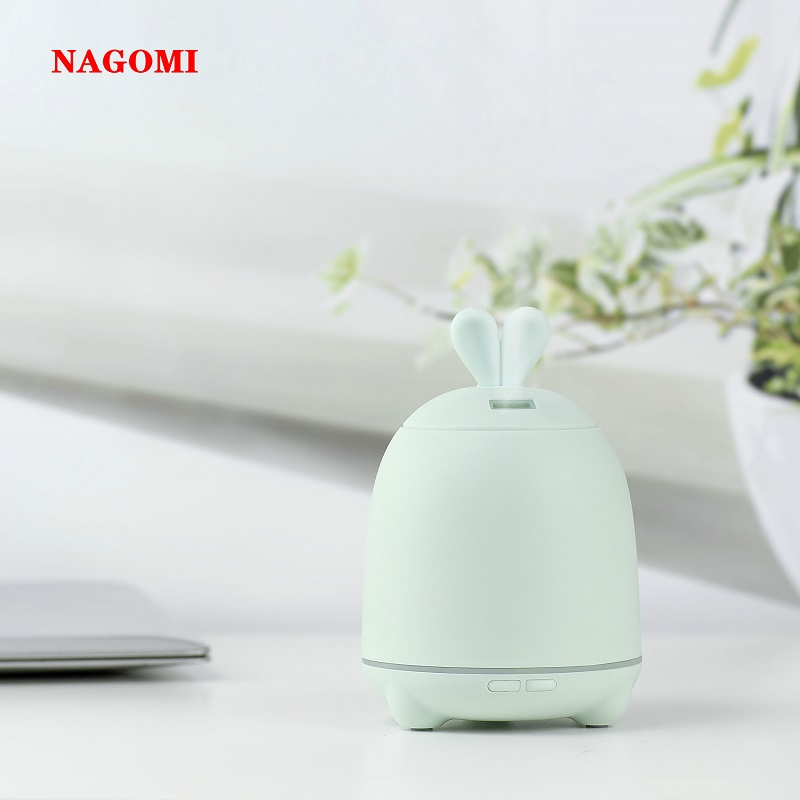 100ML Ultrasonic Air Humidifier Rabbit Aroma Essential Oil Diffuser With Colorful LED Night Light For Home Office SPA