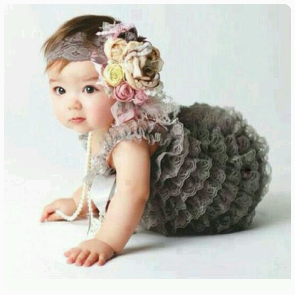 Hot Sale Baby Lace Romper Infant Girls Boys Posh Petti Ruffles Corset Romper with Straps and Ribbon Bow Kids Jumpsuit 3size 1Pcs