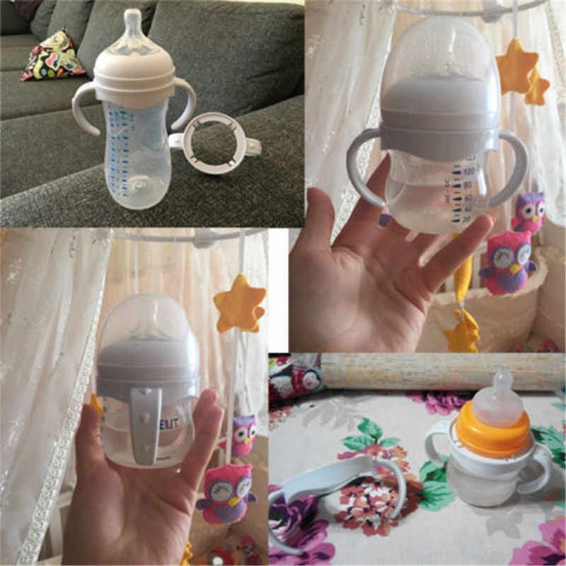 תינוק אביזרי יד שוק עבור מזין בקבוק אחיזת ידית עבור Avent טבעי רחב פה עמ זכוכית בקבוקי האכלת תינוק בקבוק גריפ