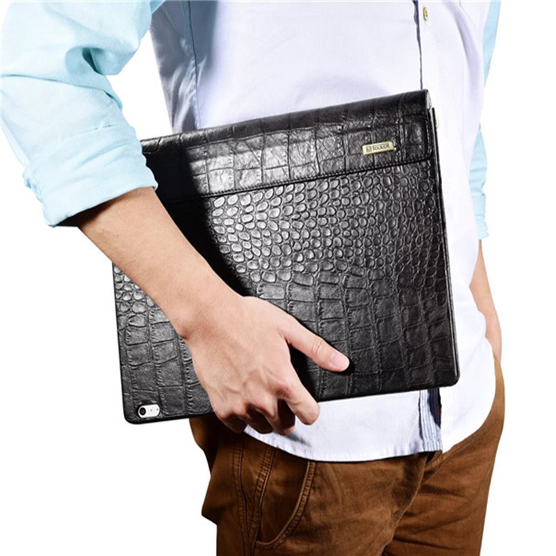 Fashion case cover For Surface book 13.5 inch ultra-slim crocodile Leather Flip Cover case for Surface book protective sleeve for microsoft surface book 13 5 sleeve bag embossed crocodile genuine leather detachable flip case black skin for surface book
