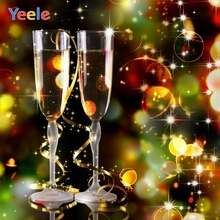 Yeele Christmas Photocall Bokeh Lights Wine Cheer Photography Backdrops Personalized Photographic Backgrounds For Photo Studio
