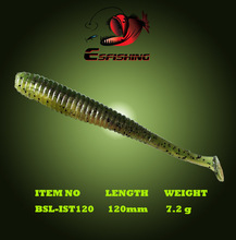 Soft Lure Quality Professional Plastics Baits 6pcs 12cm/7.2g Esfishing I Shad Tail Fishing lures Carp Leurre Souple Saltwater