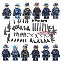 Военная Серия спецназ Полиции пушки awp Weapons Pack Армия Кирпич Оружие Оружие Блоки Лучшие Детские Игрушки