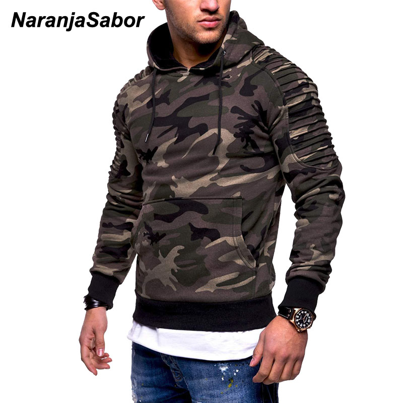 NaranjaSabor Men's Hoodies Autumn Sportswear Long Sleeve Camouflage Hooded Shirt Mens Brand Clothing Male Casual Sweatshirt N540