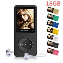 2017 New 16GB MP3 Music Player 1.8 Inch Screen 70 hours lossless sound quality, Support up to 128GB Micro SD Card audio player
