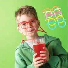 Горячее предложение! Распродажа! Забавные мягкие очки соломенная уникальная гибкая питьевая трубка детские аксессуары для вечеринки