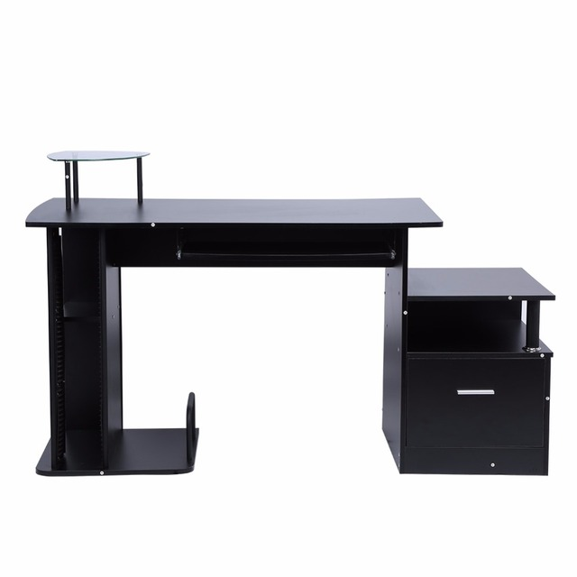 TV Stand Wood Computer Desk Table Office Workstation Desk PC Furniture  Drawers Modern Home Office With Storage Rack