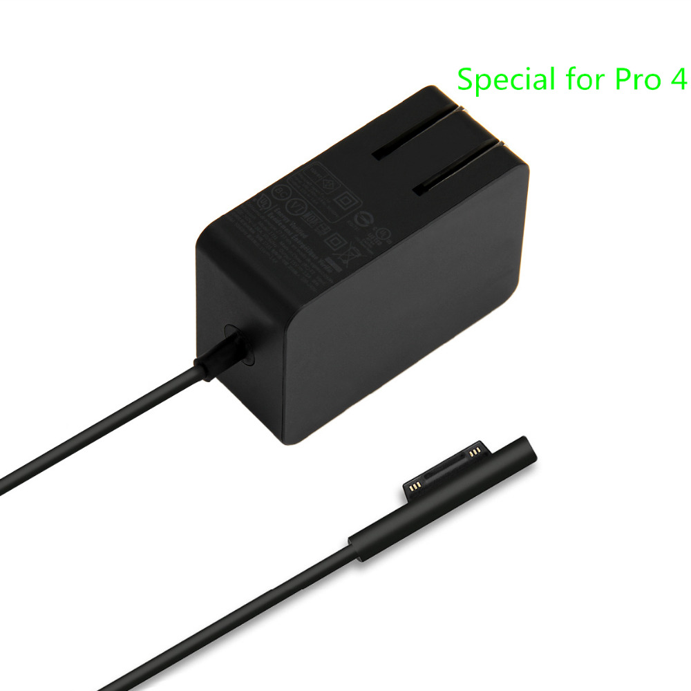 new genuine microsoft surface pro 4 m3 charger 15v 1 6a wall power charger adapter special for. Black Bedroom Furniture Sets. Home Design Ideas