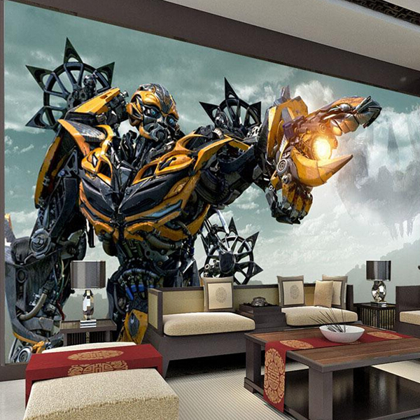 Transformers bumblebee muurschildering grote wall art foto behang de ontwerper muurstickers slaapkamer aangepaste muurschildering behang.jpg 640x640 - Transformers Behang