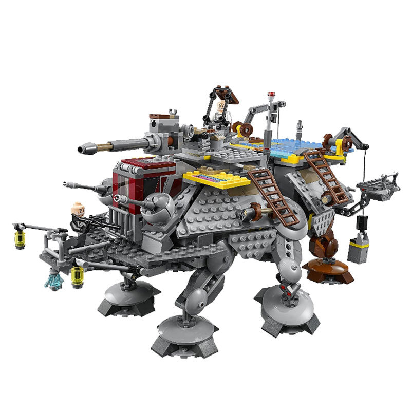LEPIN 05032 Star 1022pcs Compatible Legoed Wars Rex's AT-TE Model building 3D blocks Educational toys for children gifts 75157 lepin 22001 pirate ship imperial warships model building block briks toys gift 1717pcs compatible legoed 10210