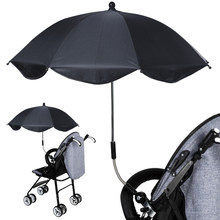 Baby Umbrella Sun Canopy Anti-UV Adjustable Pram Umbrellas Stretch Stand Holder Stroller Accessories(China)