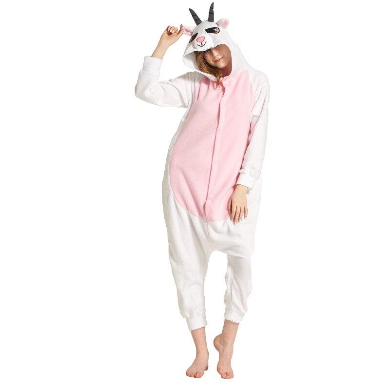 Animal jaune éléphant Kigurumi pour adulte pyjamas polaire polaire Onesie pour Halloween une-pièce combinaison siamois Cosplay Custome - 4