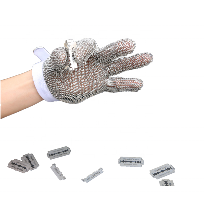 Five-finger cut-proof steel wire gloves Cut-proof protective glovesFive-finger cut-proof steel wire gloves Cut-proof protective gloves