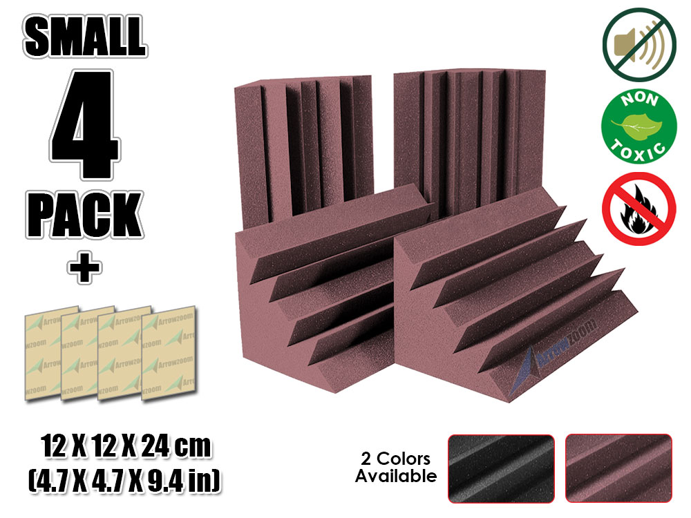 Arrowzoom 4.7 x 4.7 x 9.4 Mini Corner Bass Traps Studio Foam Panel Sound Absorbing Acoustic TreatmentArrowzoom 4.7 x 4.7 x 9.4 Mini Corner Bass Traps Studio Foam Panel Sound Absorbing Acoustic Treatment