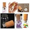 Envío libre regalos de navidad de cristal pen drive botella de corcho de madera usb a granel 512 MB usb flash drive